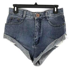 One Teaspoon Vintage Bandits Denim Shorts